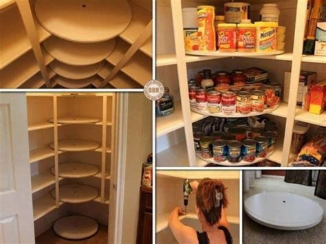 how to make diy pantry organizer with turntable disks