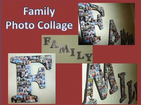 collage crafts for craft home and garden ideas family photo collage
