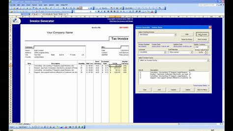 invoice generator software free printable invoice