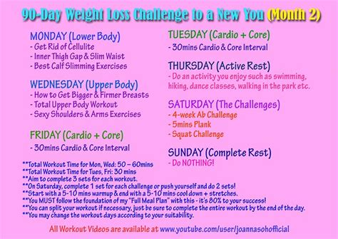 90 day weight loss challenge printable full workout plan 90 day weight loss plan