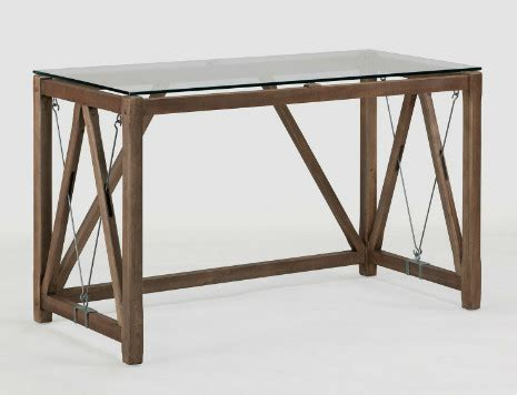 glass top cable desk modern desks and hutches by