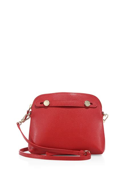Furla Dome Piper Medium Ruby furla piper mini saffiano leather crossbody bag in lyst