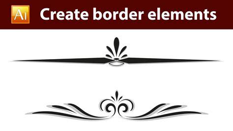 adobe illustrator create border pattern simple calligraphy border designs www imgkid com the