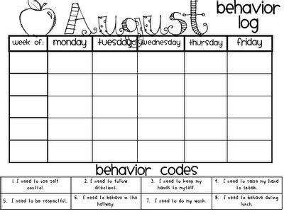 monthly behavior charts books worth reading pinterest
