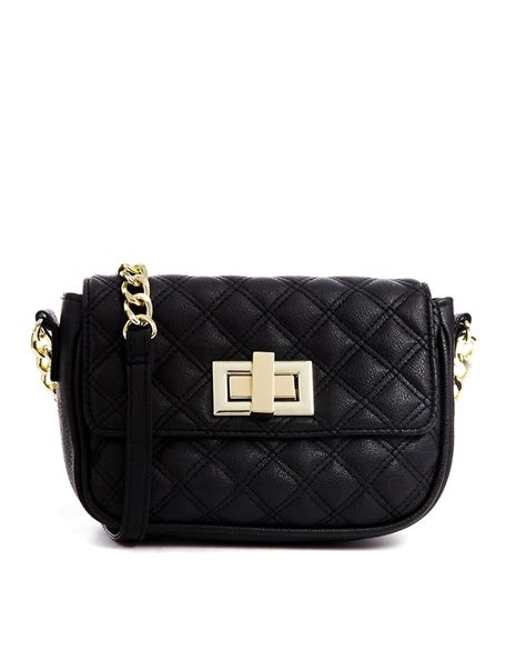 Quilted Cross Bag by Asos Asos Quilted Cross Bag With Chunky Chain At Asos