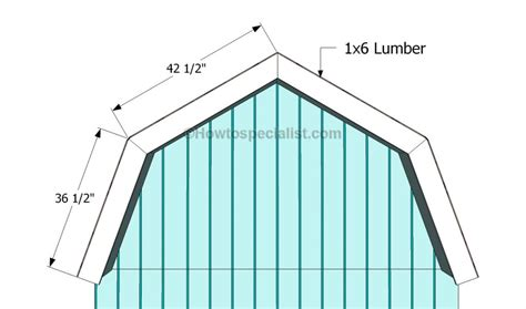 how to build gambrel roof how to build a gambrel roof shed howtospecialist how