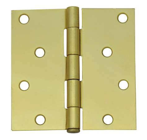 everbilt 4 inch satin brass door hinge the home depot canada
