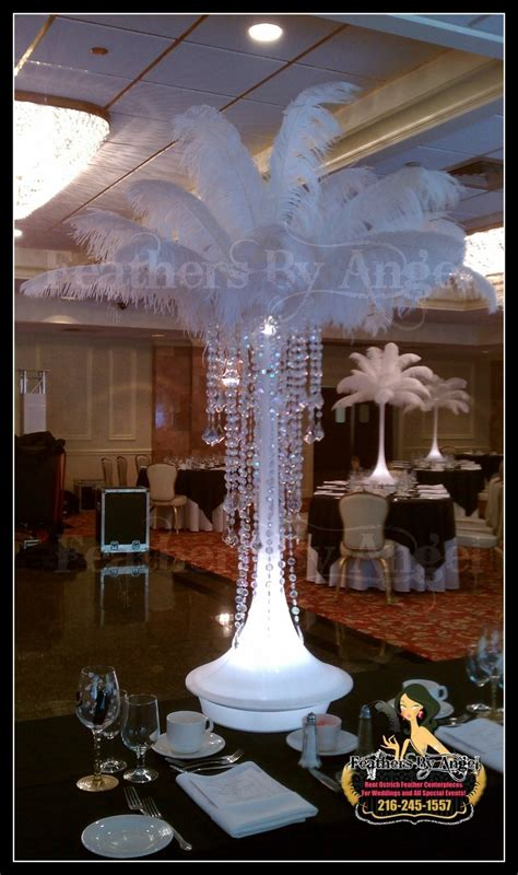 ostrich feather centerpieces feathers by angel s blog