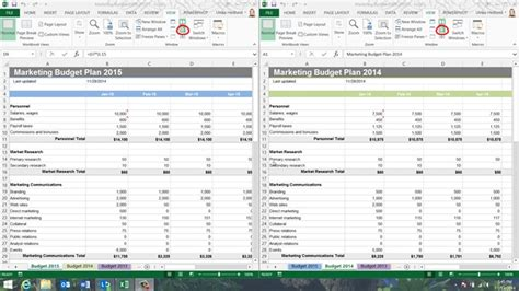 business productivity 187 how to compare worksheets side by side