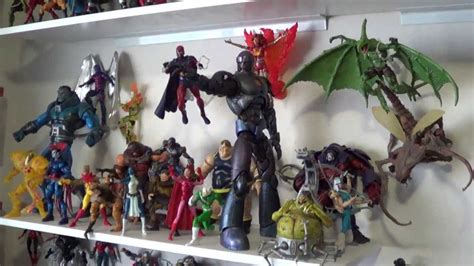 x figure collection marvel legends and x villains collection