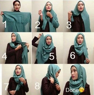 tutorial jilbab pashmina anak muda gambar cara memakai hijab pashmina lilit gaya baru