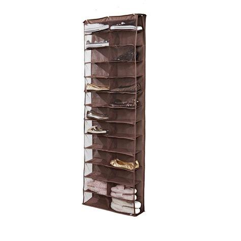 simplify 26 shelf the door shoe rack in chocolate