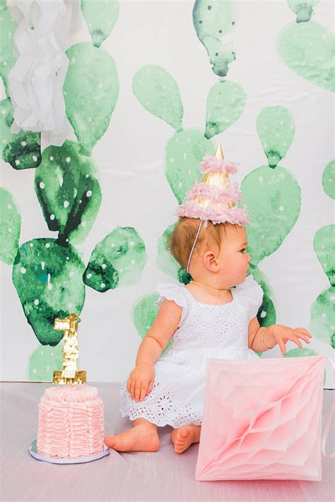 pink cactus themed st birthday wedding party ideas