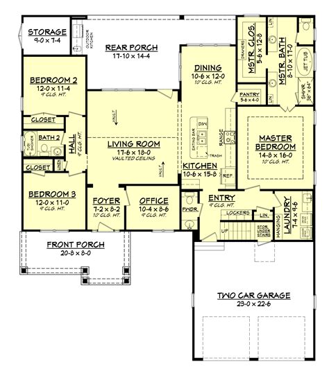 floor plan house 3 bedrm 2004 sq ft country house plan 142 1158