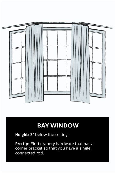 how to put curtains on bay windows 1000 ideas about how to hang curtains on pinterest hang