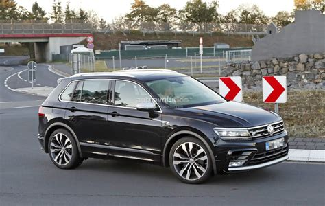 vw volkswagen 2018 volkswagen tiguan r spotted at nurburgring not