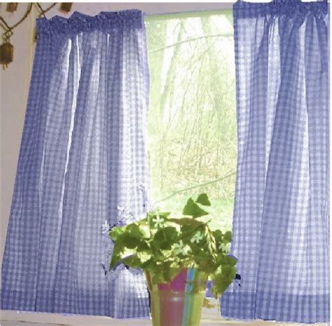 periwinkle curtains periwinkle royal blue gingham kitchen caf 233 curtain