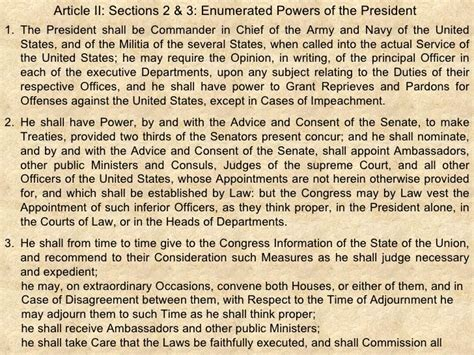 article 2 section 2 of the constitution summary what does article two of the constitution cover