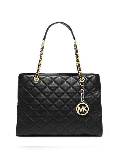 Michael Kors Susannah Quilted Bag by Michael Michael Kors Susannah Large Quilted Leather Chain