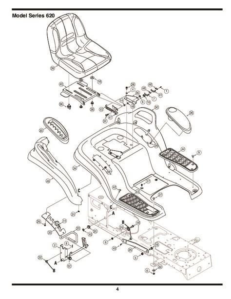mtd mower parts mtd 620 hydrostatic lawn tractor mower parts list