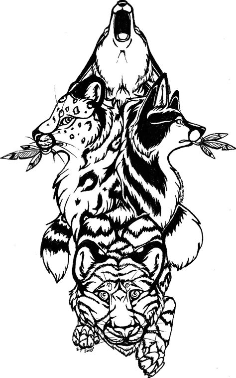 totem pole tribal tattoo by saltypuppy on deviantart