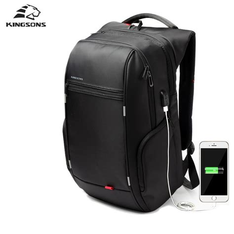 Adevs Tas Ransel Laptop Slot Charger Usb kingsons 15 quot 17 quot laptop backpack external usb charge