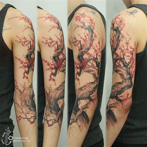 cherry blossom half sleeve tattoo designs 40 beautiful cherry blossom tattoos nenuno creative