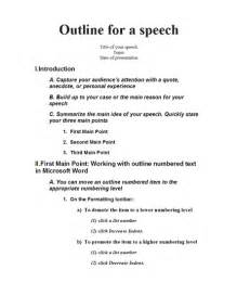 Werklund School Of Education Course Outlines by Speech Outline Office Templates