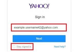 Yahoo login page yahoo login screen yahoo sign in