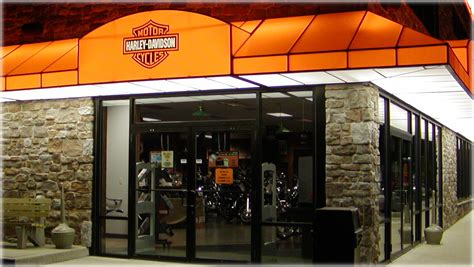 backlit awnings backlit awning service entrance at lancaster harley