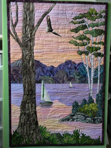 Landscape Quilts Art Quilting And Landscapes On Pinterest Landscape Quilt Patterns