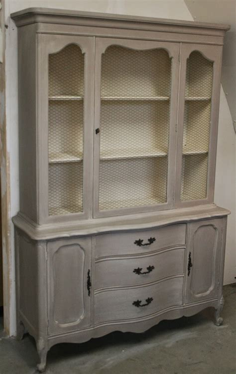 chalk paint hutch reloved rubbish provincial hutch with chicken wire