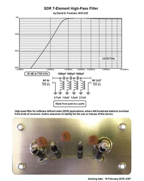 high pass filter hf a simple homebrew high pass filter the swling post