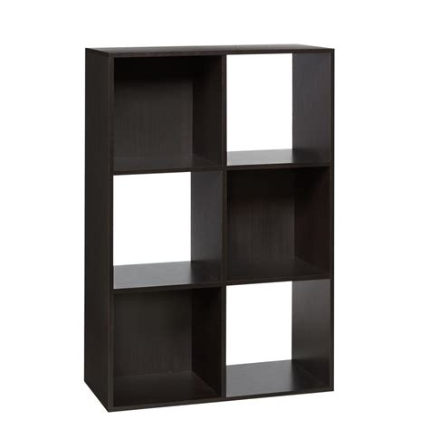 6 cube bookcase espresso desk espresso 6 cube organizer bookcase home office