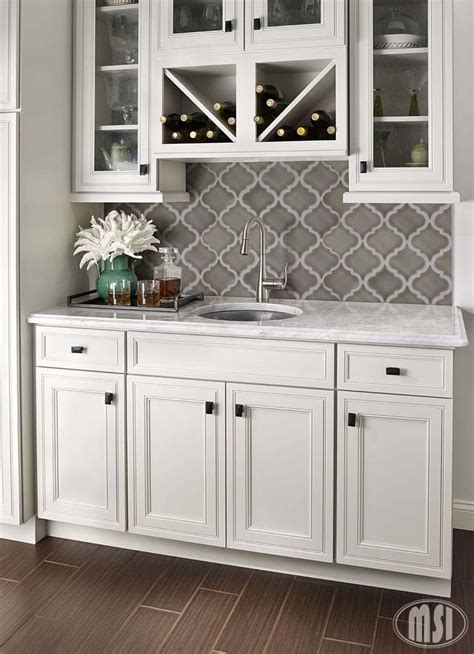 Diy Backsplash Kitchen marble quatrefoil tile pattern backsplash mahaffey tile