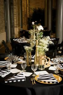 black gold wedding decorations modern white black and gold wedding every last