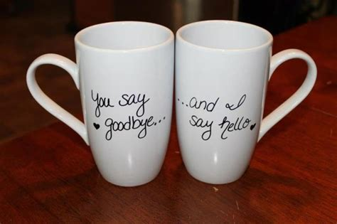diy coffee mugs write on with a sharpie and bake in the