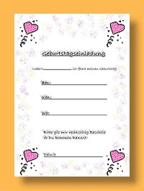 Einladungskarten Design Vorlagen kindergeburtstag einladungskarten vorlagen vorlagen