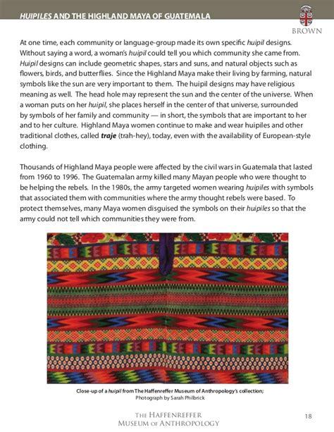 huipil pattern meaning culture connectteacherpacketfinal