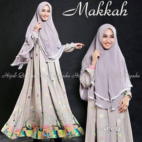 Jilbab Premium Set Gamis Dress Elma jual set jilbab gamis syar i premium makkah qiyada