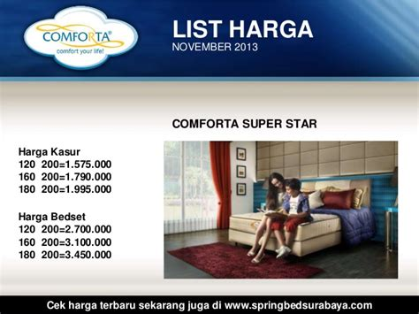 Bed Comforta Surabaya harga comforta bed surabaya