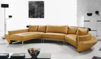 Modern Leather Sofas And Sectionals Contemporary Curved Sectional Sofa In Mustard Leather Modern Living Room Other Metro By