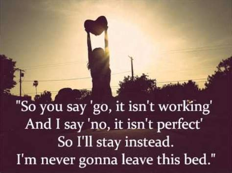 Never Gonna Leave This Bed by Maroon 5 Never Gonna Leave This Bed With Lyrics