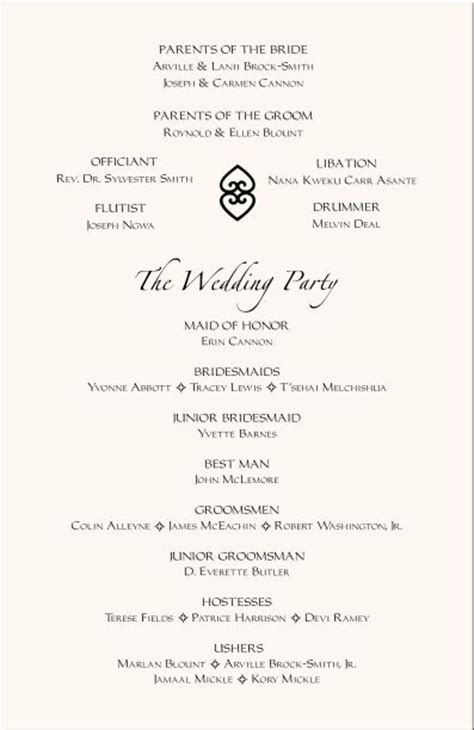 exles of wedding programs templates wedding program templates free program