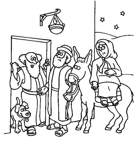 coloring pages mary and joseph bethlehem mary and the donkey and joseph near bethlehem coloring