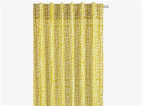 Yellow Cotton Curtains 163 60 Trene Cotton Pair Of Yellow Patterned Curtains Curtains Blinds Habitatuk Garden Room