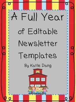 editable classroom newsletter template editable newsletter templates for the entire year