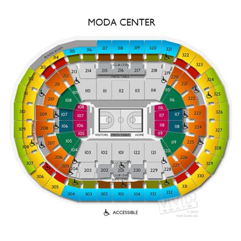 moda center seating map moda center tickets moda center seating chart seats