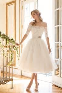 Top 40 most loved tea length wedding dresses deer pearl flowers