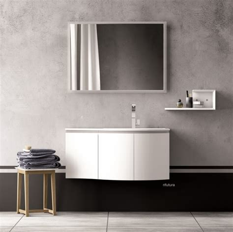 mobile bagno fly mobile bagno curvo pt fly 11 asimmetrico 103 5 cm